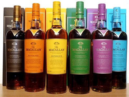 Macallan Edition No. 1-6 Limited Edition Release 2015-2020