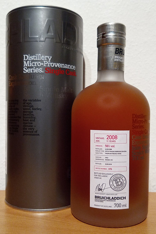 Bruichladdich 2008 Micro-Provenance French Wine Cask 11 Years old UK Exclusive