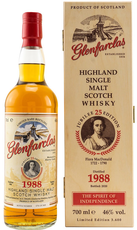 Glenfarclas 1988 Edition No. 25  Flora MacDonald 32 Years old Sherry Cask