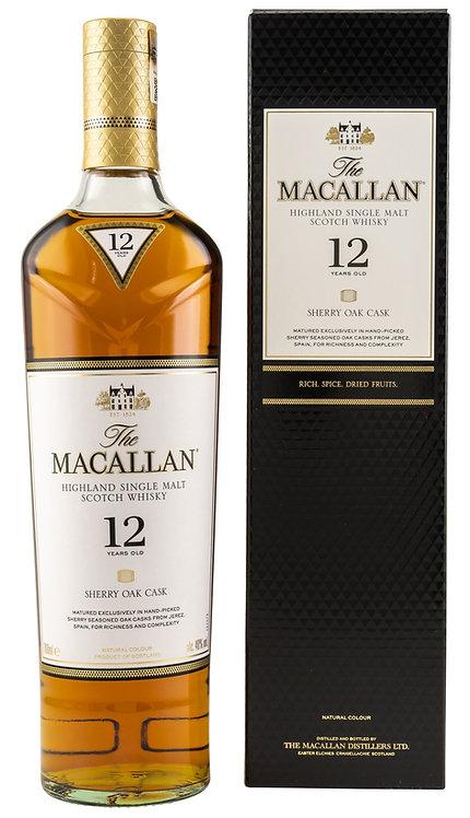 Macallan 12 Years old Sherry Oak Casks from Spain Distillery Bottling
