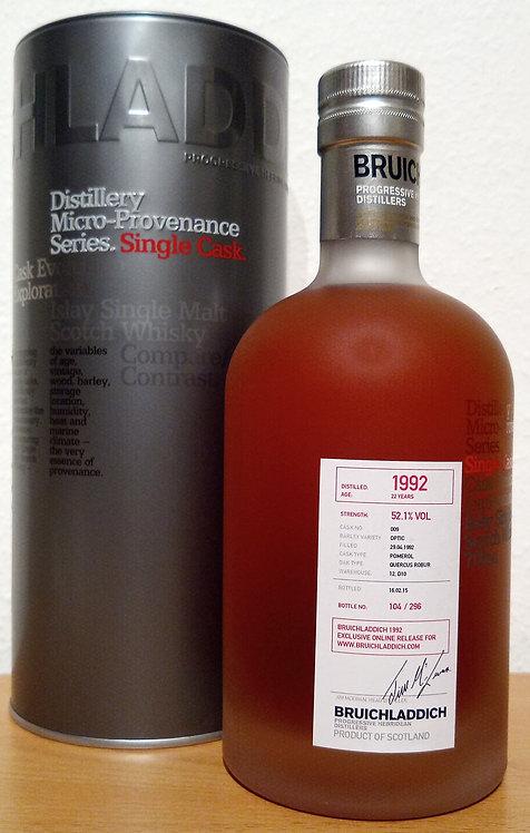 Bruichladdich 1992 Micro Provenance Ex-Pomerol Wine Cask 22 Years old