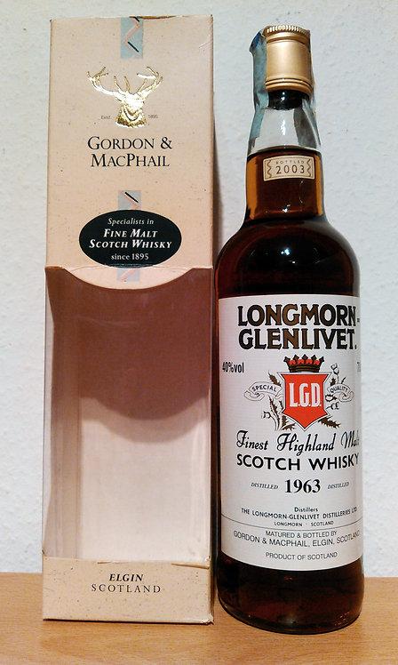 Longmorn-Glenlivet 1963 Bottled 2003 by Gordon & MacPhail 40 Years old
