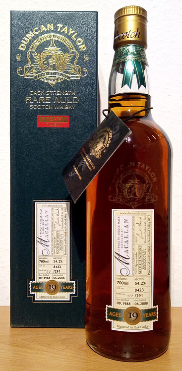 Macallan 1988 Bottled 2008 by Duncan Taylor Sherry Cask 19 Years old
