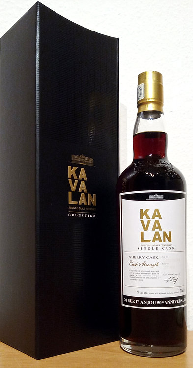 Kavalan Selection Sherry Cask Bottled for 20 Rue d'Anjou 50th Annivers