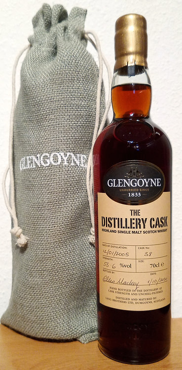 Glengoyne 2005 Tawny Port Pipe 15 Years old Single Cask 38 at the distillery
