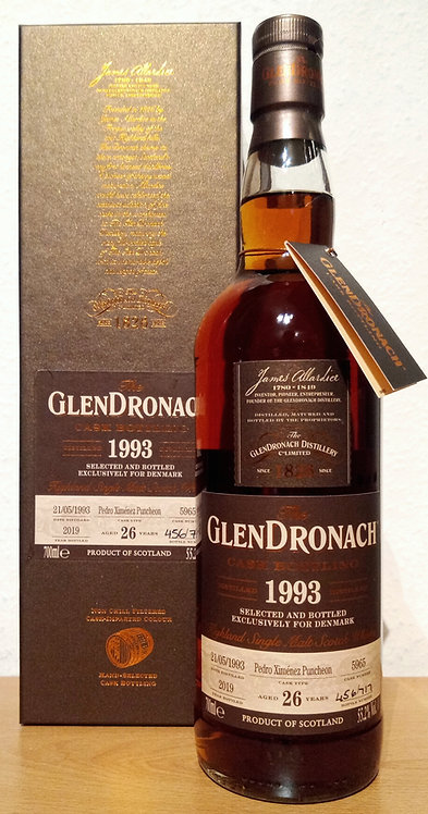 Glendronach 1993  Single Cask 5965 PX Sherry Puncheon 26 Years old