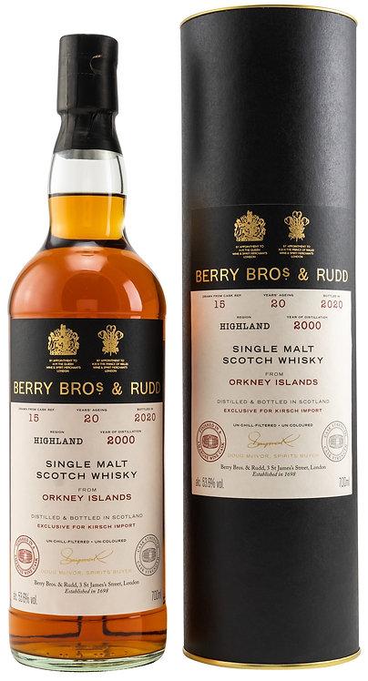 Orkney Islands 2000/2020 Berry Bros. & Rudd Wine Cask (Finish) Cask 15