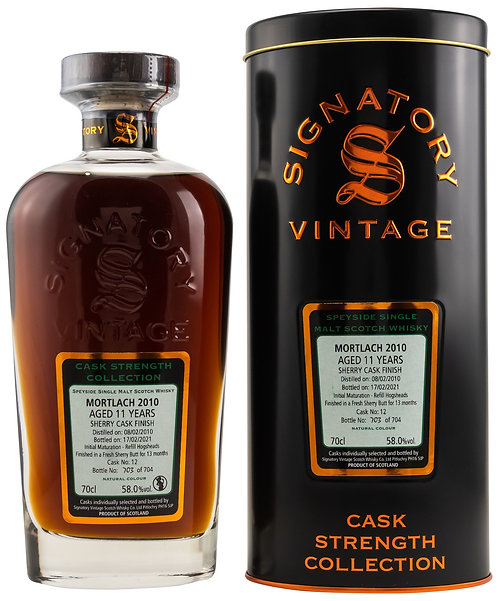 Mortlach 2010 Signatory Vintage 11 years old Cask 12 Strength Collection