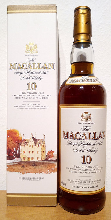 Macallan 10 Years old Sherry Oak Old Label Distillery Bottling