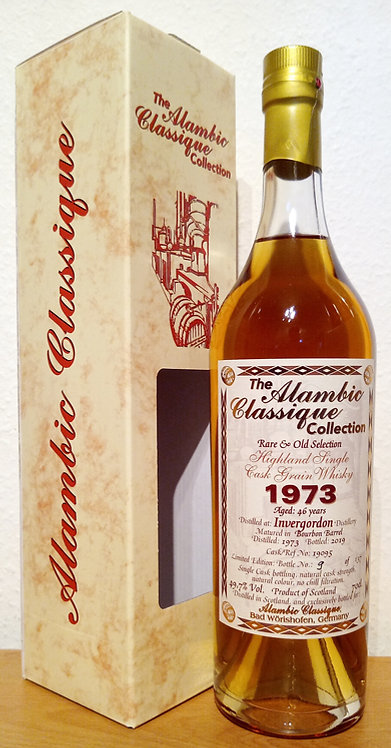 Invergordon 1973 Alambic Classique 46 Years old  Bourbon Barrel 19095