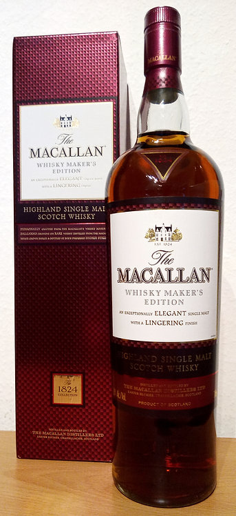 Macallan Whisky Maker's Edition Bottled 2009 The 1824 Collection