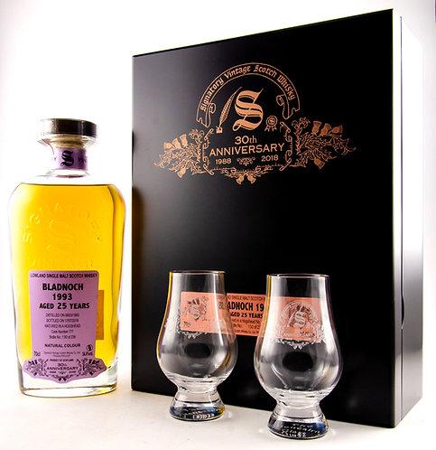 Bladnoch 1993 / 2018 Signatory Vintage 30th Anniversary + 2 Gläser