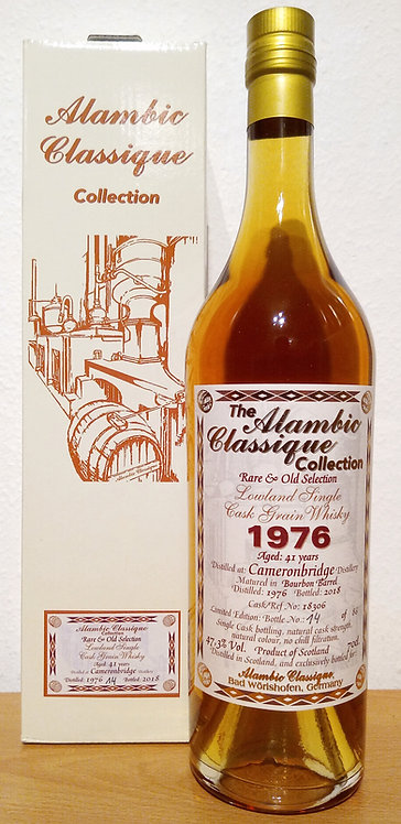 Cameronbridge 1976 Alambic Classique 41 Years old  Bourbon Barrel 18306