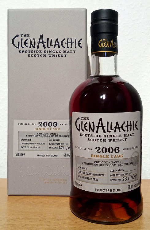 Glenallachie 2006 Trilogy Part I Oloroso Puncheo 14 Years old Cask 675