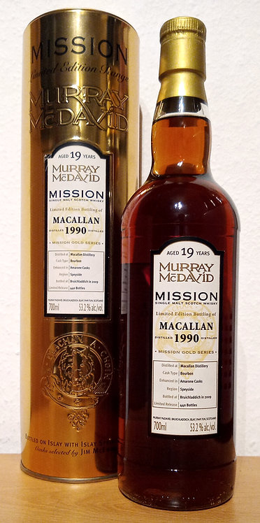 Macallan 1990 Murray McDavid 19 Years old Mission Gold