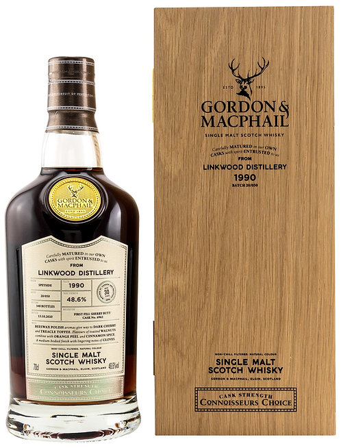 Linkwood 1990 Gordon & MacPhail 30 Years old First Fill Sherry Butt 6961