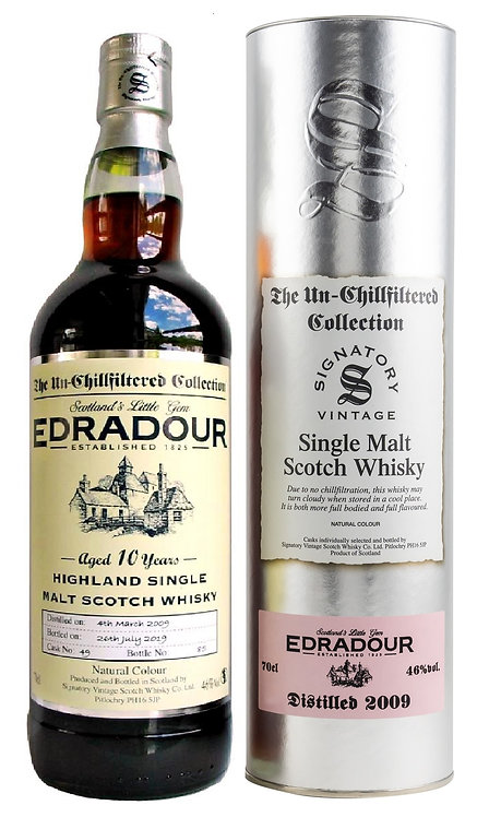 Edradour 2009 Signatory Vintage Sherry Butt 10 Years old Cask 49