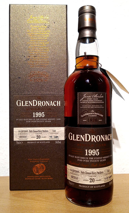Glendronach 1995 Single Cask 543 PX Sherry Puncheon 20 Years old