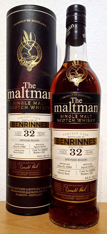 Benrinnes 1988 The Maltman 32 Years old Sherry Butt 808893