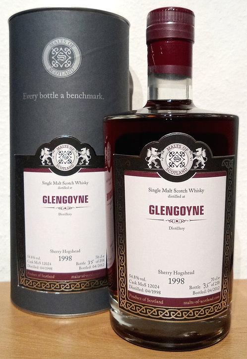 Glengoyne 1998 Malts of Scotland 14 Years old Dark Sherry Hogshead Cask 12024