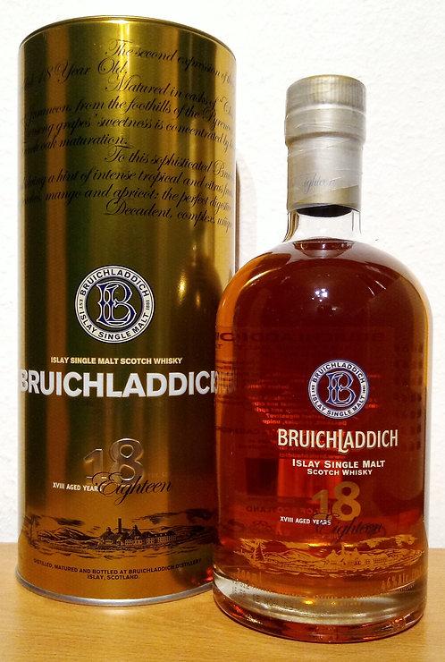 Bruichladdich 18 Years old 2nd Edition 2009 Single Malt + Metalldose