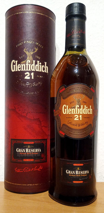 Glenfiddich 21 Years old Bottled 2007 Gran Reserva Cuban Rum Finish