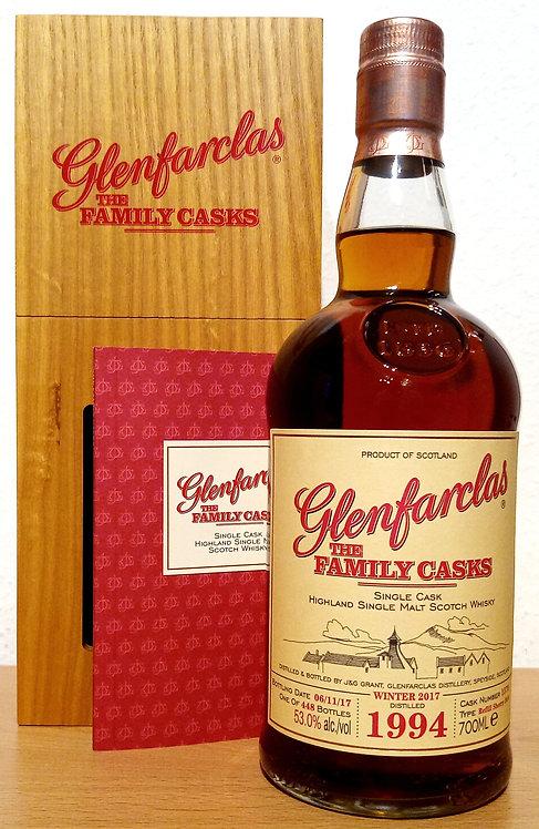 Glenfarclas 1994 The Family Casks 23 Years Refill Sherry Butt Cask 1579