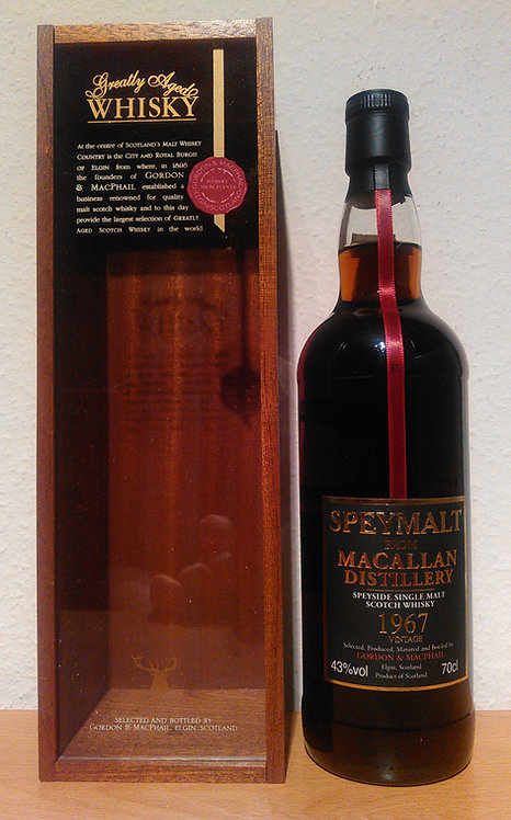 Macallan 1967 Bottled 2008 by Gordon & MacPhail 41 Years old