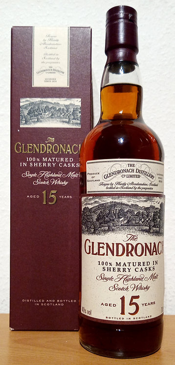 Glendronach 15 Years old 100% Matured in Sherry Casks Bottled 2003