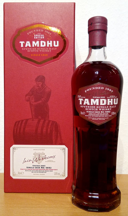 Tamdhu 2003 The Iain Whitecross Sherry Oak Cask 5892 Single Cask Vintage