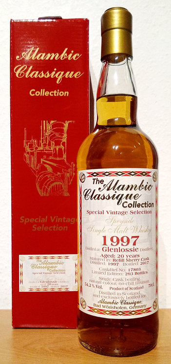 Glenlossie 1997 Alambic Classique 20 Years old Refill Sherry Cask 17803