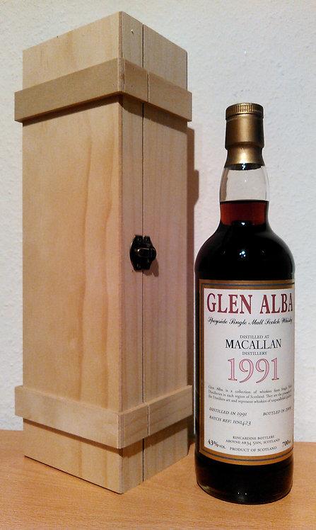 Macallan 1991 Bottled 2009 by Kincardine Glen Alba 18 Years old
