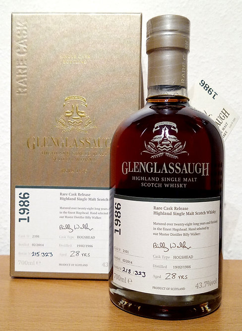 Glenglassaugh 1986 Bottled 2014 Rare Cask Release 28 Years old