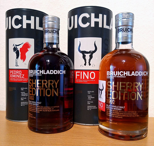 Bruichladdich 1992 Sherry Edition Fino + Sherry Edition PX 17 years old