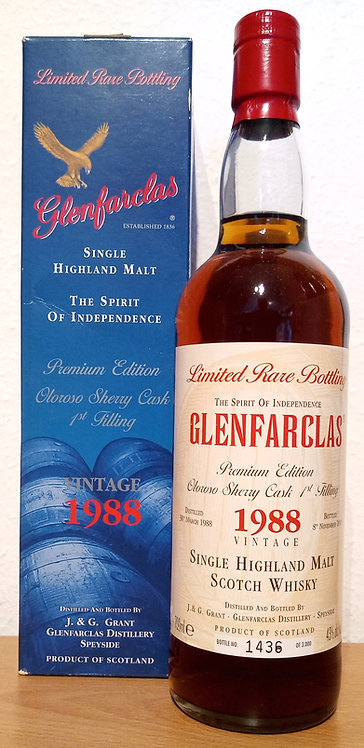 Glenfarclas 1988 Limited Rare Bottling 12 Years old 1st fill Oloroso Sherry Cask