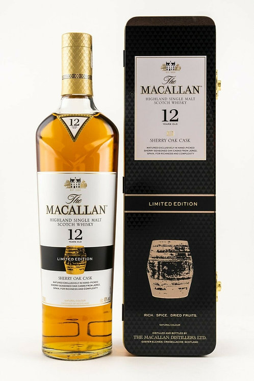 Macallan 12 Years old Sherry Oak Cask Limited Edition 2018