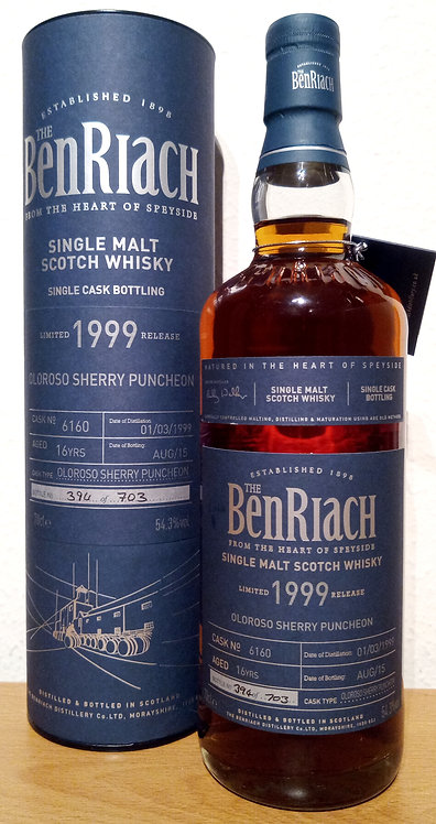 BenRiach 1999 Cask Bottling Oloroso Sherry Puncheon 16 years old