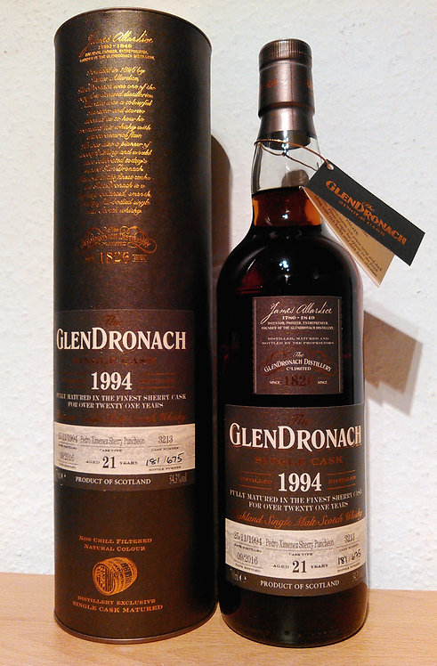Glendronach 1994 Single Cask 3213 PX Sherry Puncheon 21 Years old