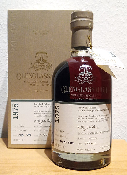 Glenglassaugh 1975 Bottled 2015 Rare Cask Release 40 Years old