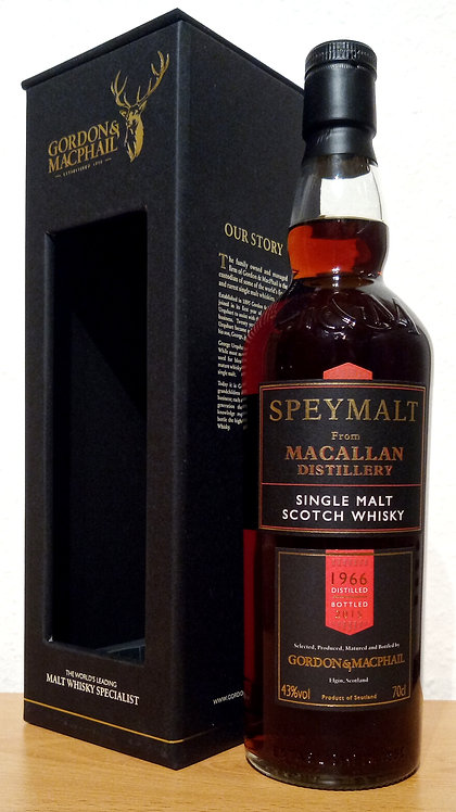 Macallan 1966 Bottled 2015 by Gordon & MacPhail 49 Years old