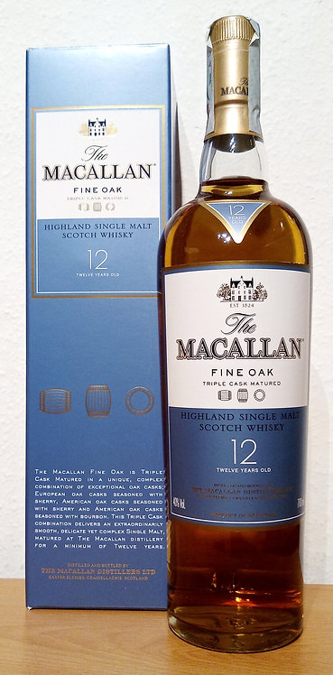 Macallan 12 Years old Fine Oak Triple Cask old Distillery Bottling