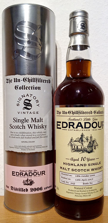 Edradour 2006 Signatory Vintage Sherry Butt 10 Years old Cask 349