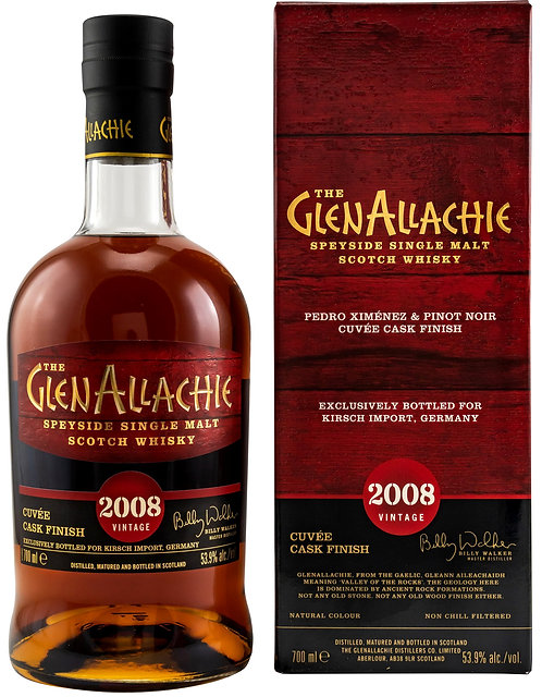 GlenAllachie 2008 PX & Pinot Noir Cuvee Cask Finish 12 Years old