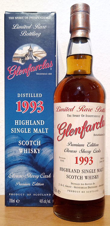 Glenfarclas 1993 Limited Rare Bottling 20 Years old Oloroso Sherry Cas
