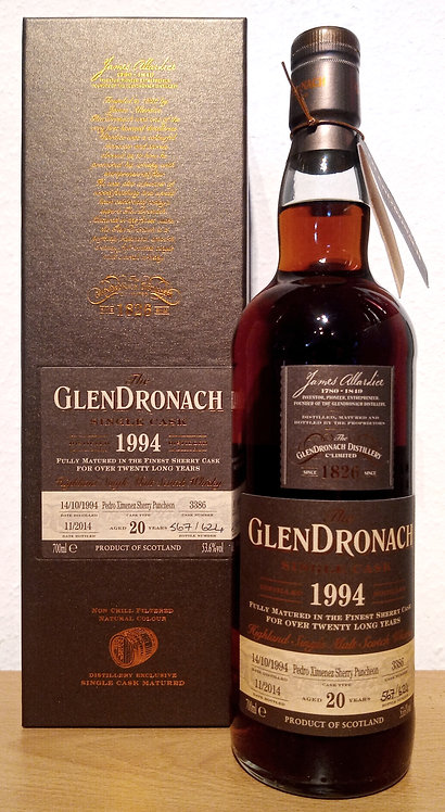 Glendronach 1994 Single Cask 3386 Pedro Ximenez 20 Years old