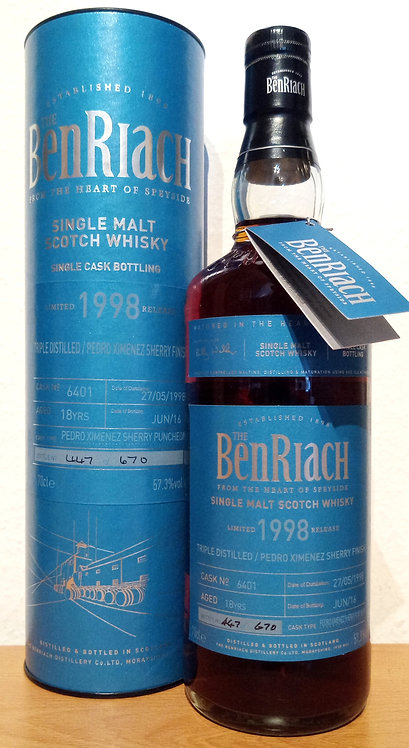 BenRiach 1998 Cask Bottling Batch 13 PX Sherry Puncheon 18 Years old