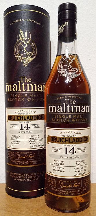 Bruichladdich 2002 The Maltman 14 Years old Sherry Butt Cask 511438
