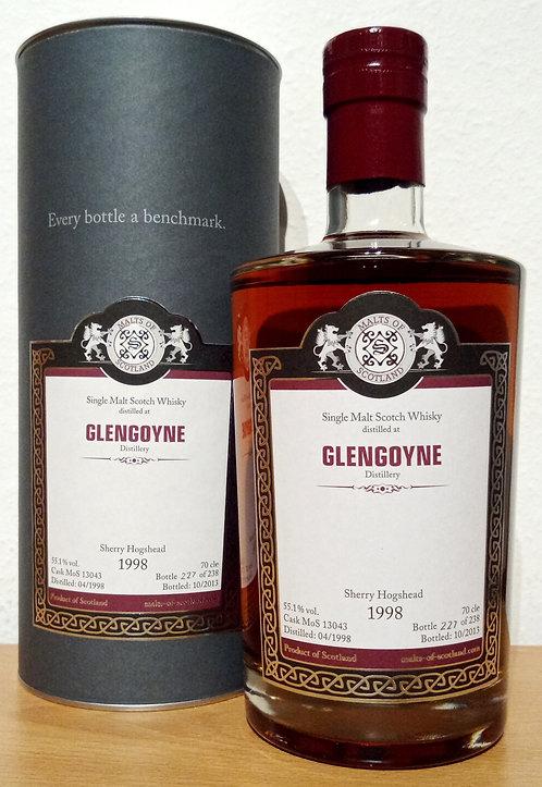 Glengoyne 1998 Malts of Scotland 15 Years old Sherry Butt Cask 13043