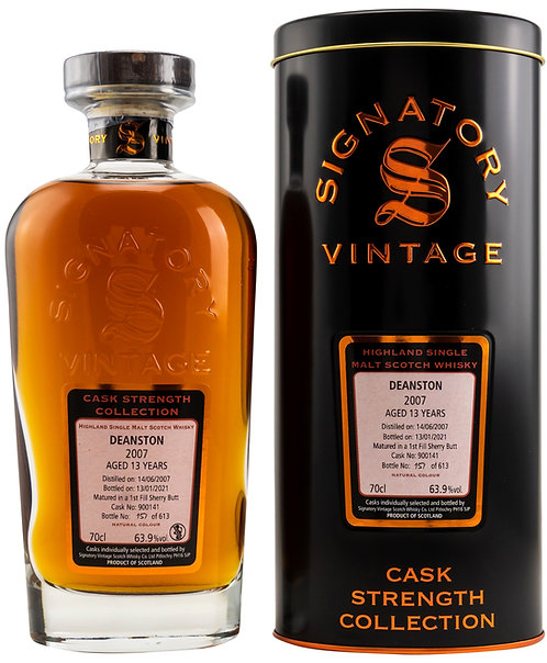 Deanston 2007 Signatory Vintage 13 years old Cask 900141 Strength Collection