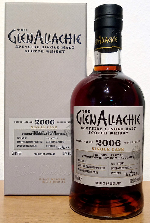 GlenAllachie 2006 Trilogy Part II Oloroso Puncheo 14 Years old Cask 671